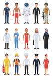 Sistema de caracteres diversos de la gente del empleo y de la profesión libre illustration
