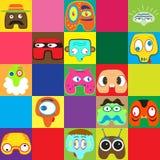 Sistema de caracteres divertidos Imagen de archivo libre de regalías