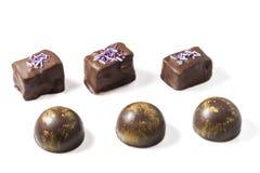 Sistema de caramelos de chocolate Foto de archivo libre de regalías