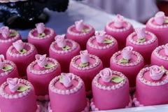 sistema de caramelos de la boda Imagenes de archivo