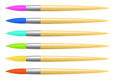 Sistema de cepillo colorido del vector Imagen de archivo libre de regalías