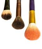 Sistema de cepillo del maquillaje foto de archivo libre de regalías