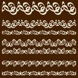 Sistema de cepillo del ornamento de la caligrafía Foto de archivo