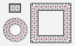 Sistema de cepillos étnicos del modelo del ornamento Foto de archivo libre de regalías