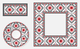 Sistema de cepillos étnicos del modelo del ornamento Imágenes de archivo libres de regalías