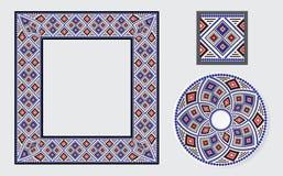 Sistema de cepillos étnicos del modelo del ornamento Fotos de archivo libres de regalías