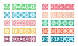 Sistema de cepillos adornado colorido del vector Fotografía de archivo