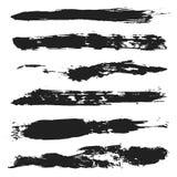 Sistema de cepillos del Grunge del vector 4 Imagenes de archivo