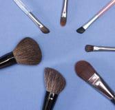 Sistema de cepillos del maquillaje Fotografía de archivo