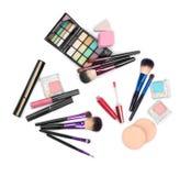 Sistema de cepillos del maquillaje para el profesional Fotografía de archivo libre de regalías