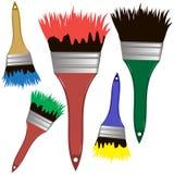 Sistema de cepillos del vector a pintar Cepillos para construir Cepilla a las FO Fotos de archivo libres de regalías