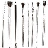 Sistema de cepillos dibujados vector de los lápices del arte Imagen de archivo libre de regalías