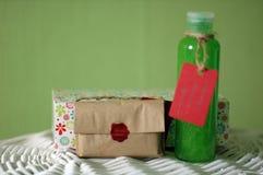 Sistema de champú y de jabón Foto de archivo libre de regalías
