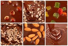 Sistema de chocolate caliente con las nueces Imagenes de archivo