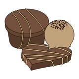 Sistema de chocolates stock de ilustración