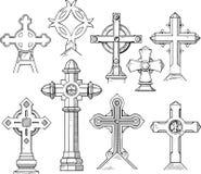 Sistema de Christian Cross Shapes Fotos de archivo