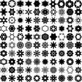 Sistema de cientos elementos del drenaje de la mano para el diseño Fotos de archivo libres de regalías