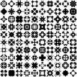 Sistema de cientos elementos del drenaje de la mano para el diseño fotografía de archivo
