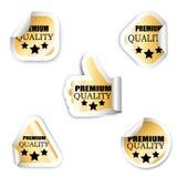Sistema de cinco etiquetas engomadas - calidad superior Imagen de archivo