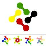 Sistema de cinco iconos abstractos Foto de archivo