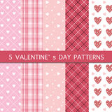 Sistema de cinco modelos - día feliz del ` s de la tarjeta del día de San Valentín Imagen de archivo
