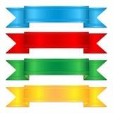 Sistema de cintas coloridas ilustración del vector