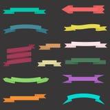 Sistema de cintas coloridas con el fondo Fotografía de archivo libre de regalías