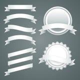 Sistema de cintas, de etiquetas y de insignias del Libro Blanco Imágenes de archivo libres de regalías