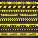 Sistema de cintas de la precaución. Imagen de archivo