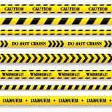 Sistema de cintas de la precaución. Fotografía de archivo