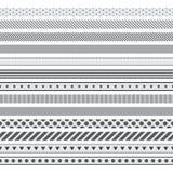 Sistema de cintas decorativas Imagen de archivo libre de regalías