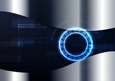 Sistema de circuito inteligente tecnologico ab da criptografia da relação ilustração royalty free