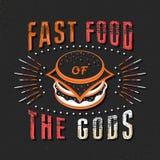 Sistema de citas tipográficas de la comida del vintage libre illustration