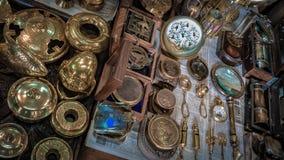 Sistema de cobre amarillo de la colección del pirata del vintage imagen de archivo libre de regalías