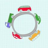 Sistema de coches lindos del vector Imagenes de archivo