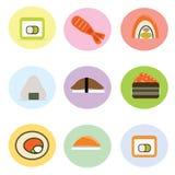 Sistema de cocina linda del japonés del rollo de sushi Foto de archivo libre de regalías