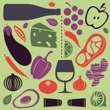 Sistema de cocinar delicioso Imagen de archivo libre de regalías