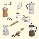 Sistema de Coffe Fotografía de archivo libre de regalías