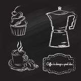 Sistema de Coffeetime stock de ilustración