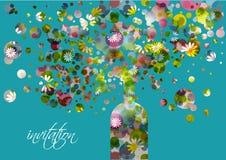 Sistema de collage colorido stock de ilustración