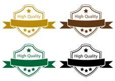 Sistema de color de alta calidad de la etiqueta ilustración del vector
