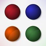 Sistema de color de botones en blanco redondos Fotografía de archivo