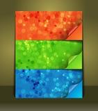 Sistema de color de etiquetas engomadas de las burbujas del cartel Fotos de archivo libres de regalías