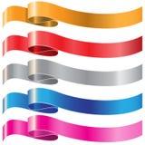 Sistema de color de la cinta en el vector blanco Fotografía de archivo libre de regalías