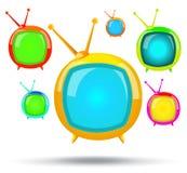 Sistema de color de la TV Fotografía de archivo libre de regalías