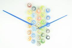 Sistema de colores de la pintura del número con los cepillos Imagen de archivo