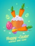 Sistema de comida de Pascua Historietas lindas del vector