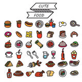 sistema de comida del vector Foto de archivo
