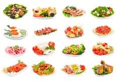 Sistema de comida en la placa Imagen de archivo libre de regalías