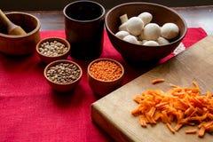 Sistema de comida sana para cocinar Foto de archivo